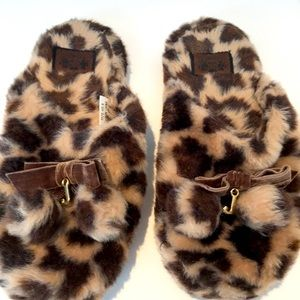 Juicy leopard slippers. Size 9. EUC
